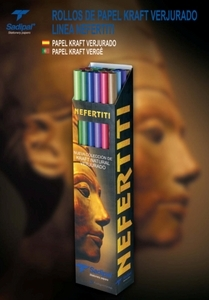 Rolo Papel Kraft Vergé Nefertiti 1 X 3 M