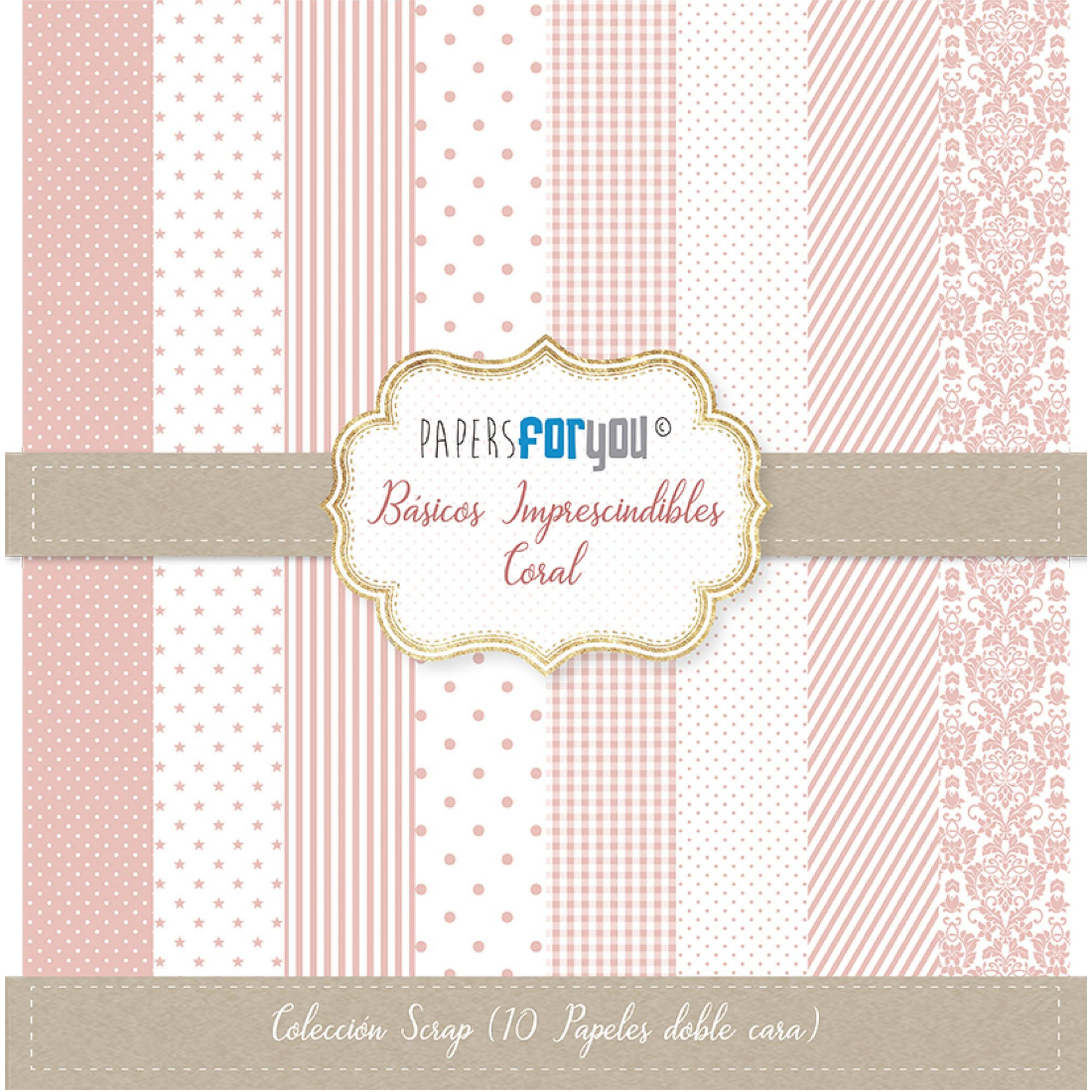 Bloco Papel Scrapbooking Basics Coral PFY-2214 papersforyou