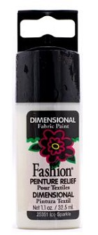 Tinta têxtil relevo Fashion dimensional metallic pure gold ideal para as suas manualidades.