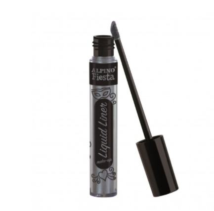 Tinta Facial Liquid Liner Make-Up prata Alpino