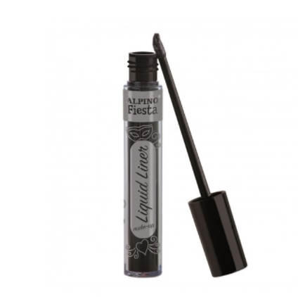 Tinta Facial Liquid Liner Make-Up preto Alpino