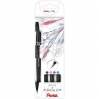 Pack Marcadores Brush Pen Sign Artist Extrafina Pentel