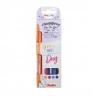 Pack Marcadores Sign Pen Brush Perfect Day Pentel