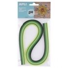 Papel para Quilling Tons Verde