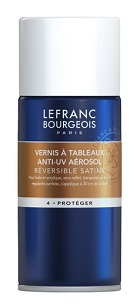 Verniz Spray Quadros Anti UV Reversível Acetinado 150ml Lefranc & Bourgeois